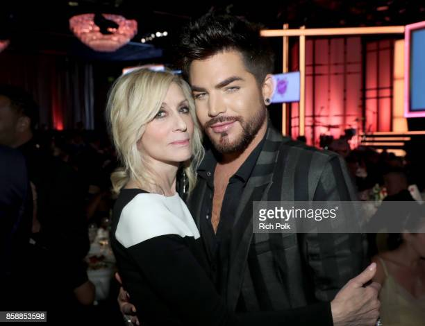 Point Honorary Board Member and singer Adam Lambert onstage at Point Honors Los Angeles 2017 benefiting Point Foundation at The Beverly Hilton Hotel...