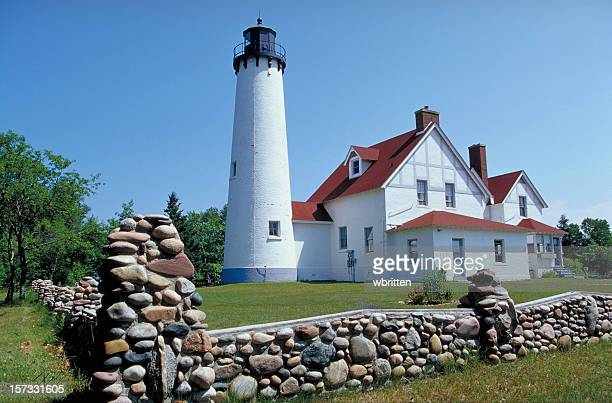 point iroquois lighthouse - iroquois stock photos and pictures