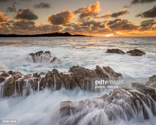 Point Lobos at Sunset with Waves