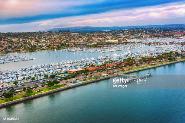 point loma san diego marina aerial - emergency shelter stock pictures, royalty-free photos & images