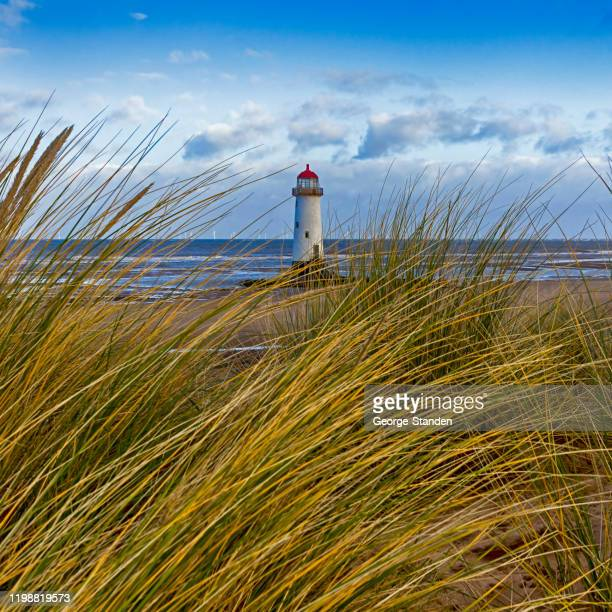 point of ayr lighthouse - north wales stock pictures, royalty-free photos & images