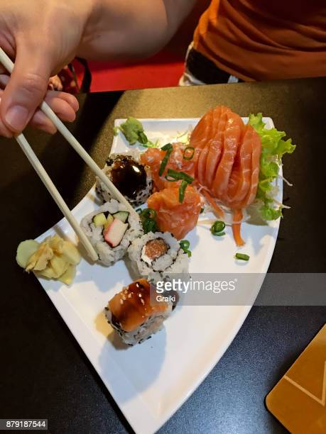 Point of view - eating japanese food