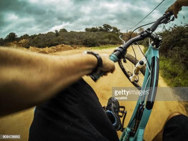 Point Of View POV Mountain Bike Stuntriding