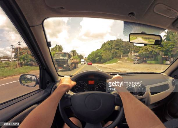 Point of view of driver