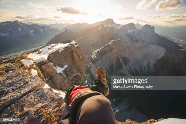 point of view sunset - bow valley stock pictures, royalty-free photos & images