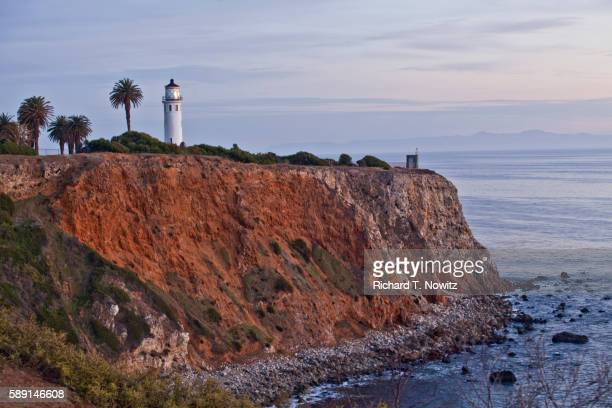 point vicente lighthouse - rancho palos verdes stock pictures, royalty-free photos & images