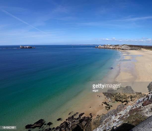 pointe du toulinguet, crozon peninsula - finistere stock photos and pictures