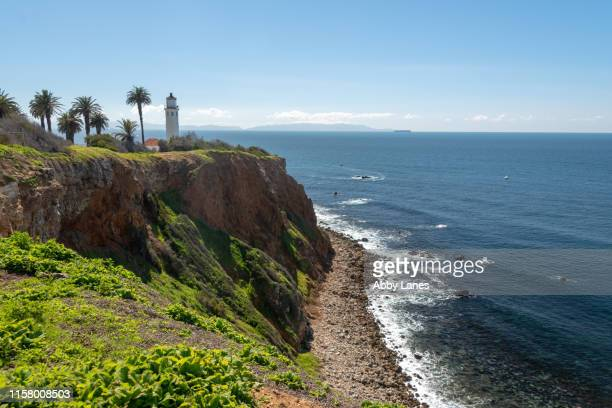 pointe vicente lighthouse - rancho palos verdes stock pictures, royalty-free photos & images