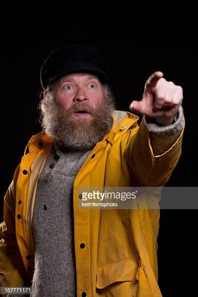 pointing fisherman