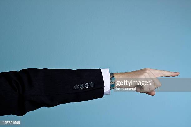 pointing - cuff sleeve stock pictures, royalty-free photos & images