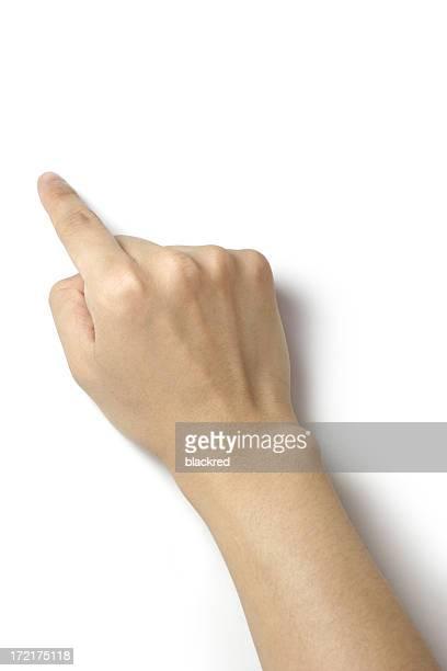 Mit dem Finger zeigen