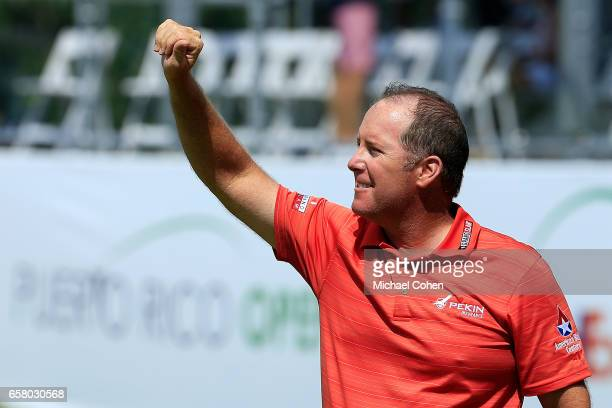 Points acknowledges the crowd after winning the Puerto Rico Open at Coco Beach on March 26, 2017 in Rio Grande, Puerto Rico.