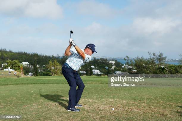 Points of the United States plays his shot from the first tee during the second round of the Bermuda Championship at Port Royal Golf Course on...