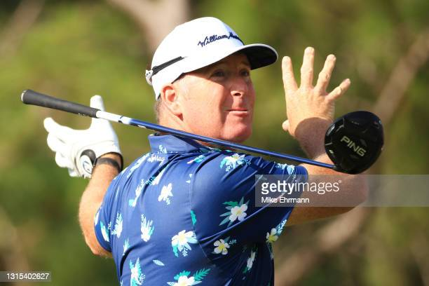 Points of the United States plays his shot from the sixth tee during the second round of the Valspar Championship on the Copperhead Course at...