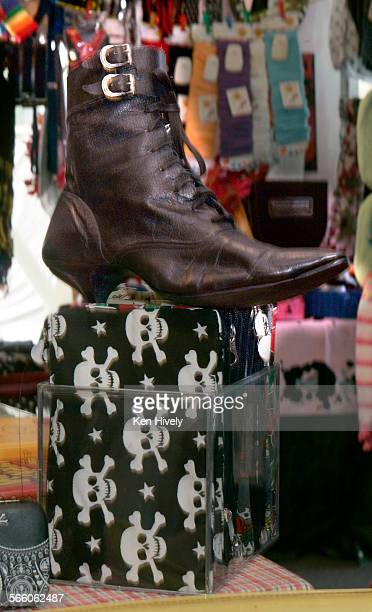 MONICA CALIFORNIA MARCH 25 2009 Pointy shoe of owerNancy Hunt owner of the Brat boutique in Santa Monica where she sold hundreds over the years