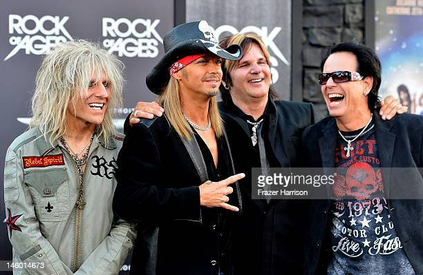Poison CC DeVille Brett Michaels Rikki Rockett Bobby Dall arrive at the premiere of Warner Bros Pictures' 'Rock of Ages' at Grauman's Chinese Theatre...