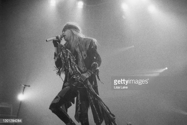 Poison lead singer Bret Michaels performs at the Allentown Fairgrounds on June 18 in Allentown, Pennsylvania.