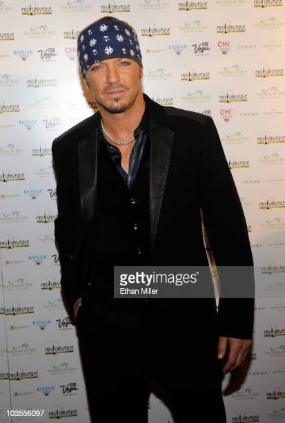 Poison singer and host Bret Michaels arrives at the 2010 Miss Universe Pageant at the Mandalay Bay Events Center August 23, 2010 in Las Vegas, Nevada.