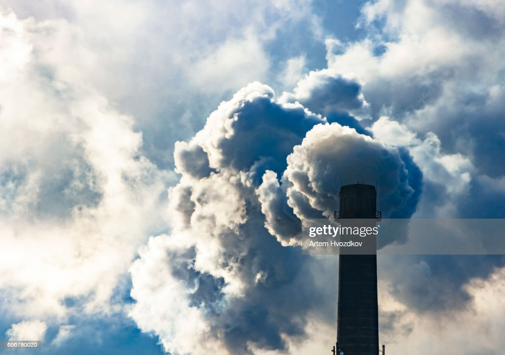 Poisoned emissions from towers : Stock Photo