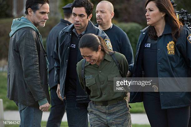 "Poisoned Motive"" Episode 1422 -- Pictured: Yul Vazquez as Luis Montero, Danny Pino as Detective Nick Amaro, Ice-T as Detective Odafin ""Fin"" Tutuola,..."
