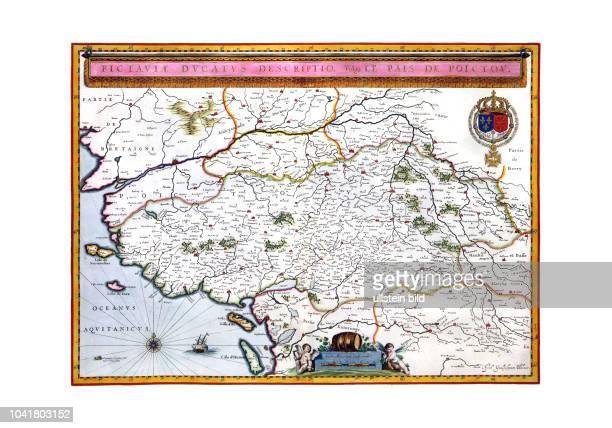 Poitierts 1655 Nach einer Vorlage von Willem Blaeu von 1635 Aus dem Atlas Maior von Joan Blaeu Er erschien in mehreren Sprachausgaben zwischen 1665...