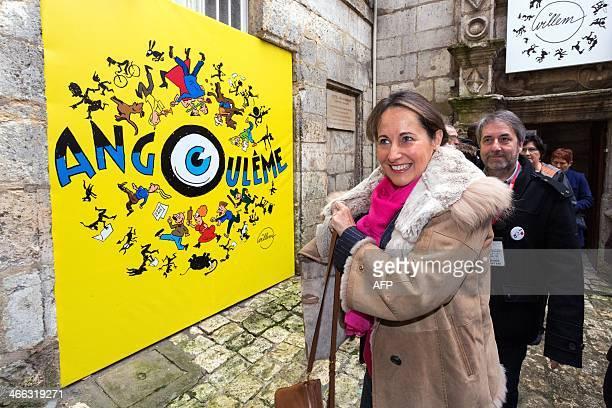 PoitouCharentes' region president Segolene Royal arrives to visit the 41st edition of the Festival International de la Bande Dessinee on February 1...
