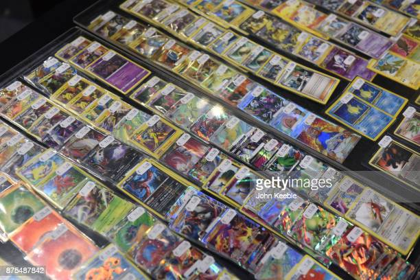 Pokemon cards on sale at the Pokemon European International Championships at ExCel on November 17 2017 in London England Thousands of competitors...