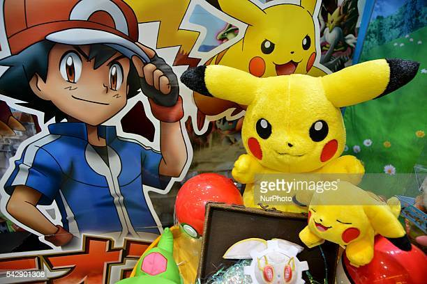 Pokemon figures are seen at the International Tokyo Toy Show 2016 in Tokyo Japan June 10 2016