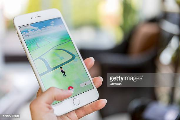 Pokemon Go App Being Played on iPhone 6 Plus