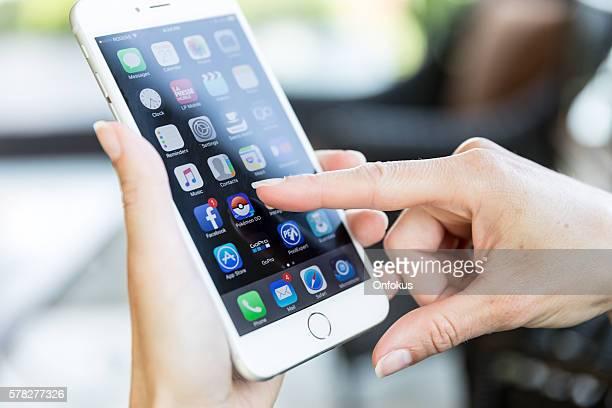 Pokemon Go App Icon on Apple iPhone 6 Plus