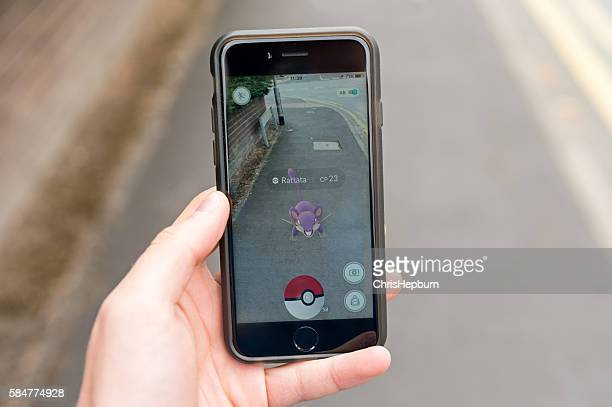 pokemon go, iphone 6 - funny avatar stock pictures, royalty-free photos & images