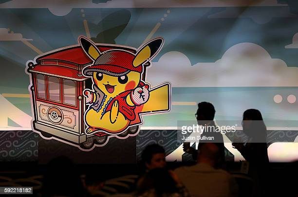 Pokemon illustration is displayed during the 2016 Pokemon World Championships on August 19 2016 in San Francisco California Over 1600 contestants...