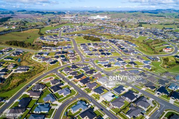 pokeno aerial view - housing development stock pictures, royalty-free photos & images