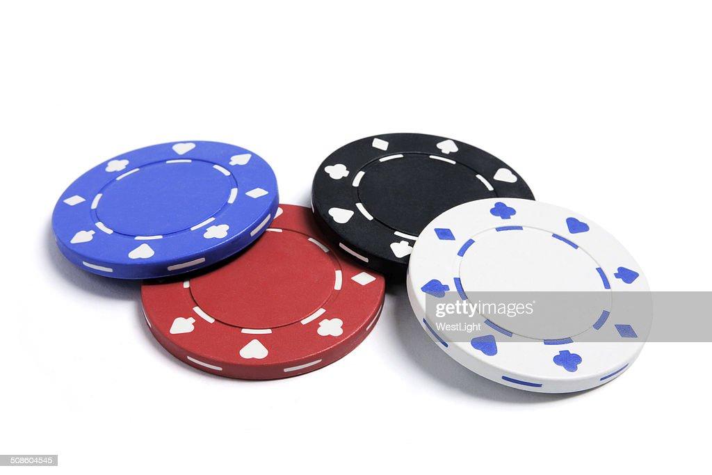 Chips de Poker : Foto de stock
