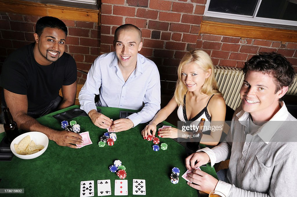 Poker Game Series Four Friends High Res Stock Photo Getty Images