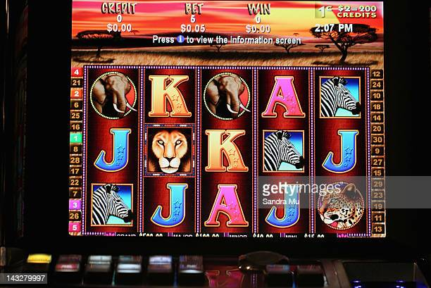 A poker machine is seen on April 23 2012 in Auckland New Zealand The Government is supporting a deal with the SkyCity casino whereby the casino will...