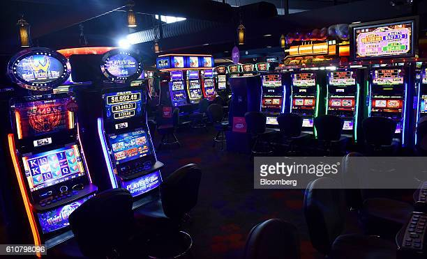Poker machines stand in the gaming room at the Vikings Club in Canberra Australia on Monday Sept 26 2016 Despite having less than half a percent of...