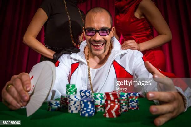 Souteneur de poker à la Table de jeu