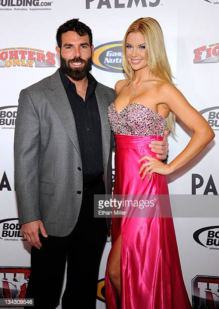 Poker player Dan Bilzerian and Playboy Playmate Jessa Hinton arrive at the Fighters Only World Mixed Martial Arts Awards 2011 at the Palms Casino...