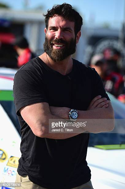 Poker player Dan Bilzerian attends qualifying for the NASCAR Sprint Cup Series Toyota Owners 400 at Richmond International Raceway on April 24 2015...