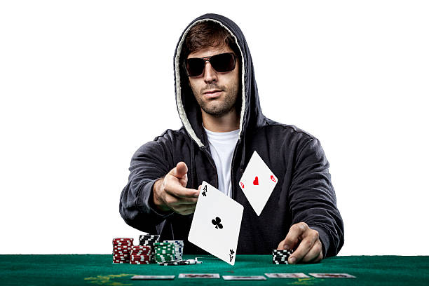 Black guys play poker for blonde — photo 6
