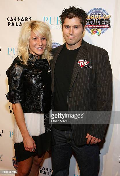 Poker player Scott Clements and his wife Courtney Clements arrive at the draw party for NBC's fourth National HeadsUp Poker Championship at the Pure...
