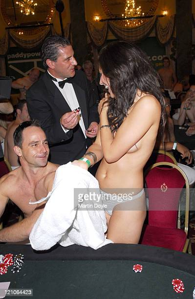 Poker players during 2006 World Strip Poker Championship in London at Café Royal in London Great Britain