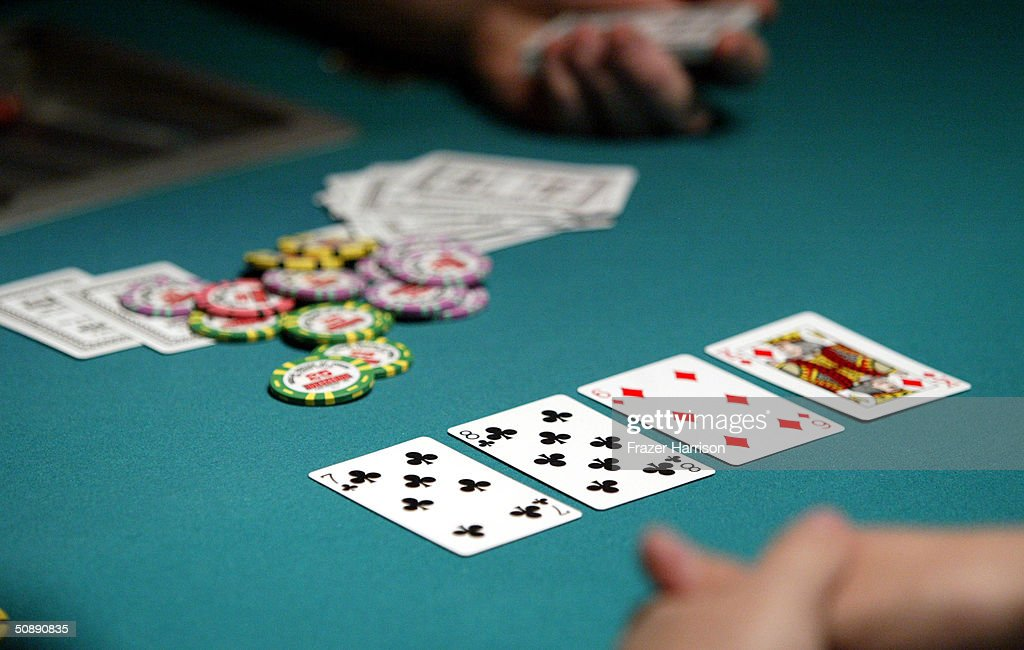 Poker players take part in the 2004 World Series of Poker Tournament held at the Binion's Horseshoe Hotel and Casino May 23, 2004 in Las Vegas, Nevada.