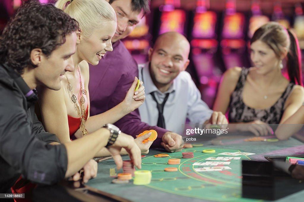 Sala de pôquer : Foto de stock