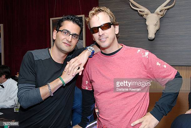 Poker Star Antonio Esfandiari and Poker Star Phil Laak attend The Ivy Hotel Premiere on August 24 2007 in San Diego