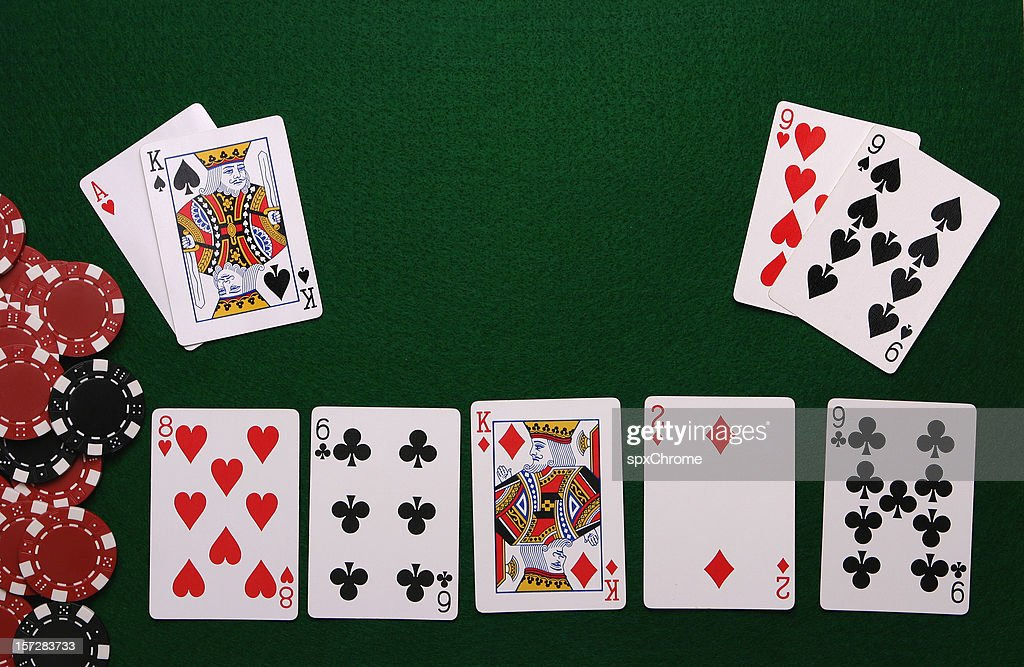 Poker table Interface : Stock Photo