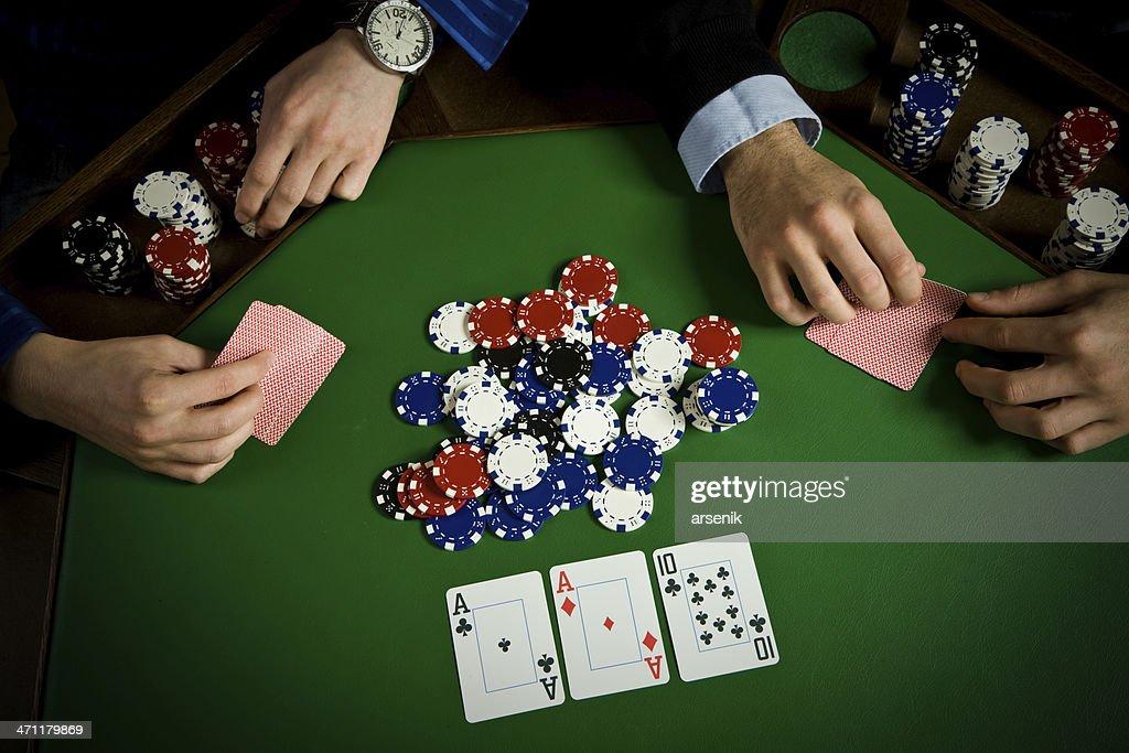 Mesa de Poker : Foto de stock
