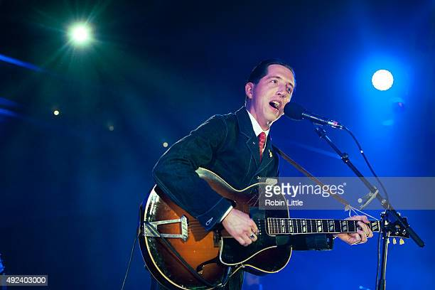 Pokey LaFarge performs at the Union Chapel on October 12 2015 in London England