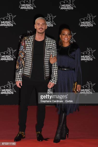 M Pokora and Christina Milian attends the 19th NRJ Music Awards on November 4 2017 in Cannes France